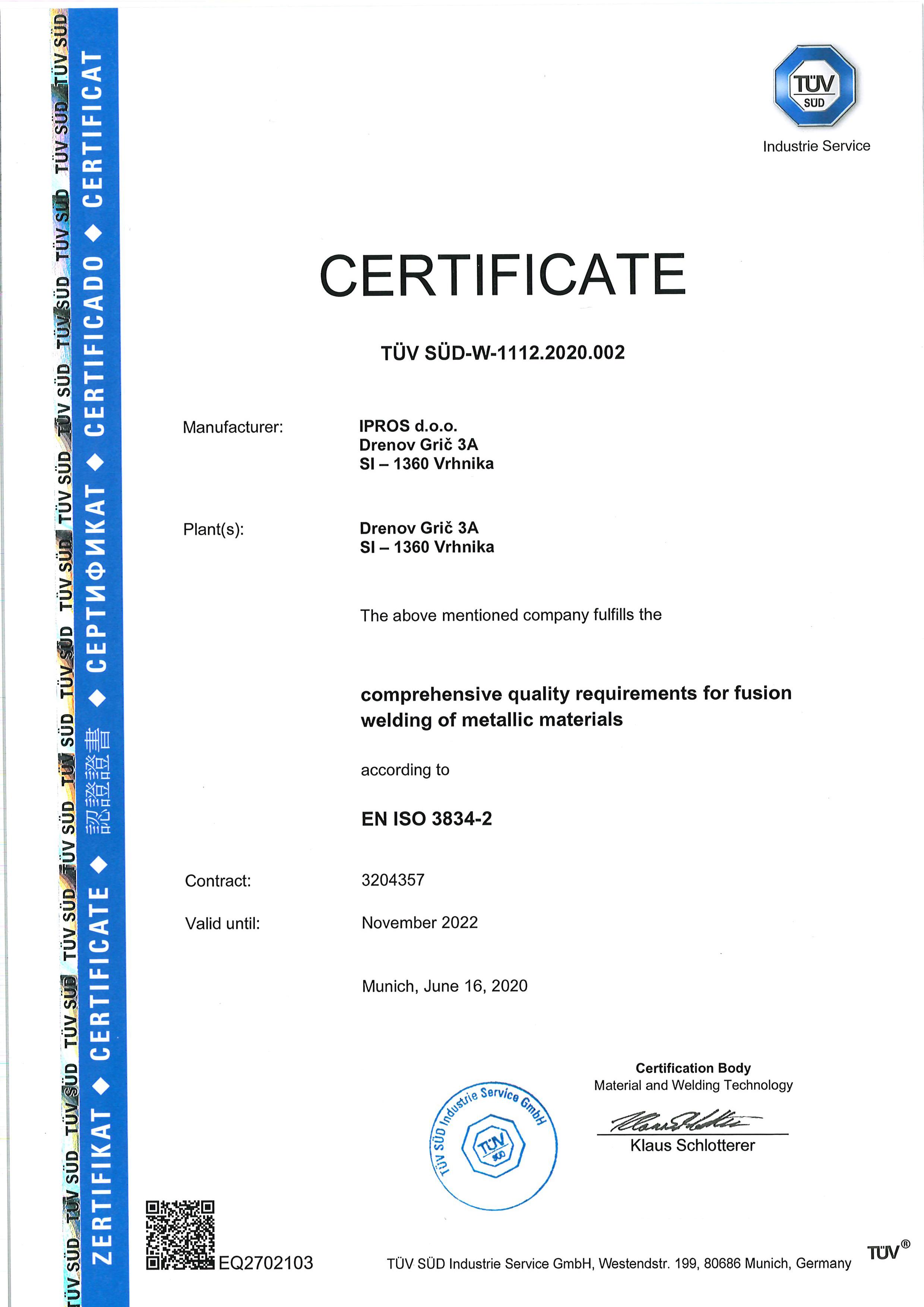 EN ISO 3834-2 2020 ENG